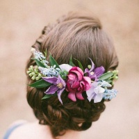 Floral hairpin. Different types.