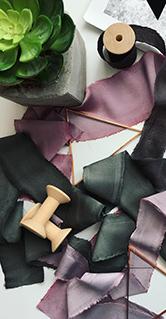 Окрашивание шелковых лент - курсы флористики онлайн