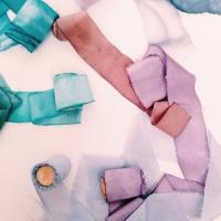 Окрашивание шелковых лент