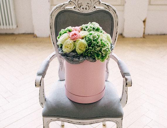 шляпная коробка упаковка букета - курсы для флористов