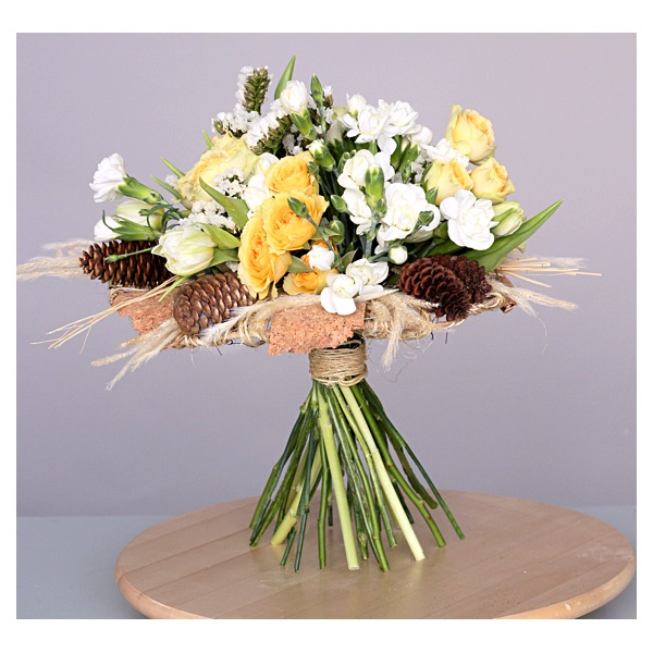 Букет на каркасе. Flowerschool.online