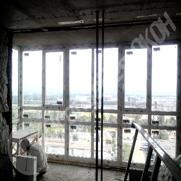 Монтаж лоджии на 23 этаже  проспекте Энергетиков