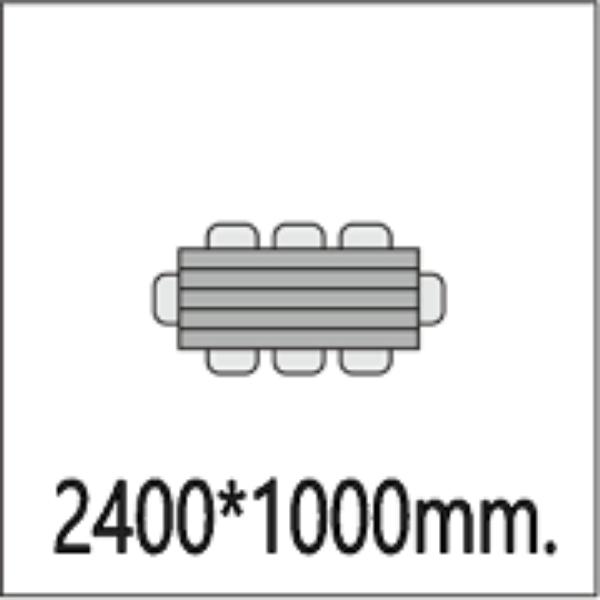 Размер стола 2400*1000мм.