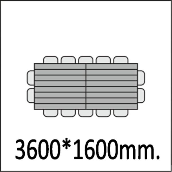 3600*1600мм.