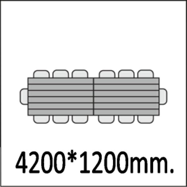 4200*1200мм.