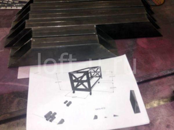 лофт журнальный стол и консоль 2