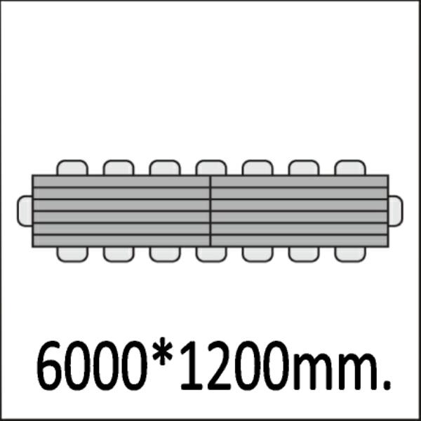 6000*1200мм.