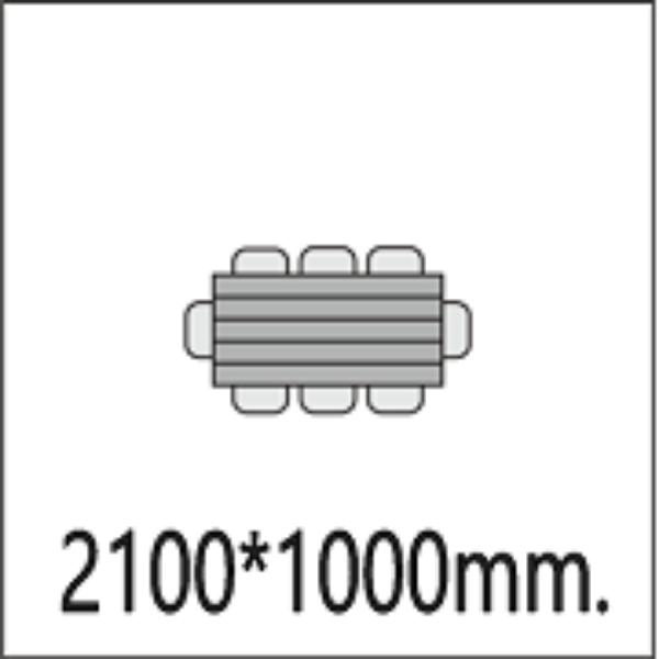 2100*1000мм.