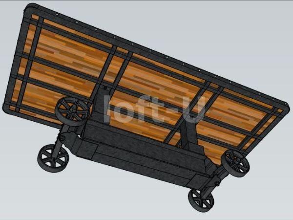 большой красивый стол на колесах trolley 6