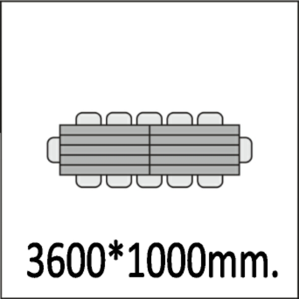 3600*1000мм.
