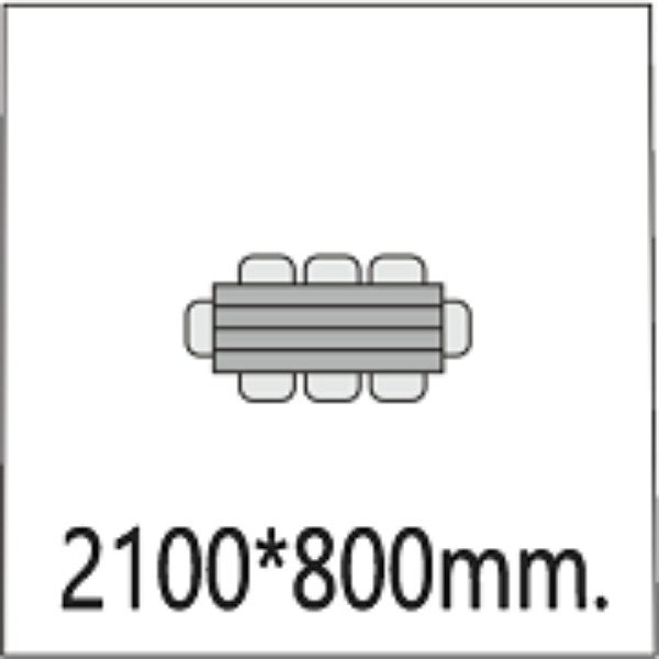 2100*800мм.