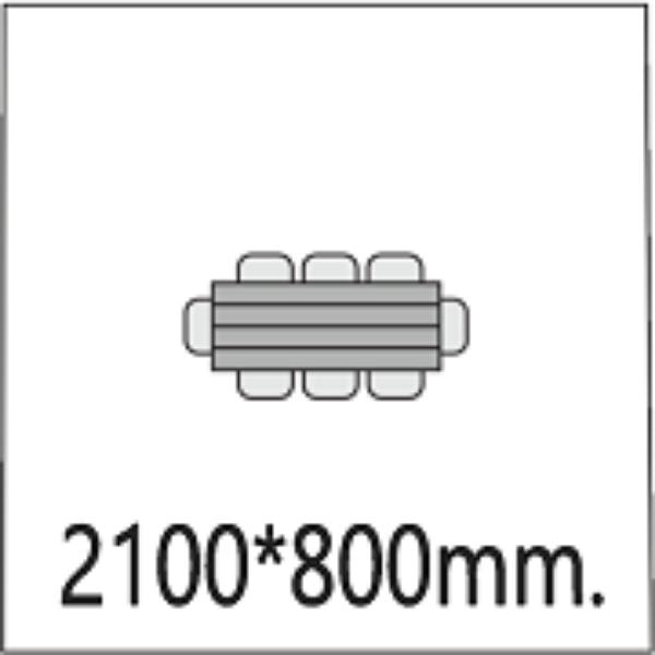 Размер стола 2100*800мм.