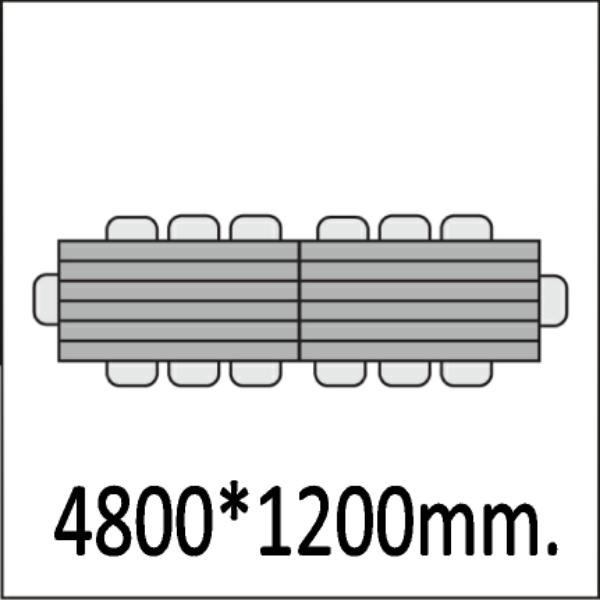 4800*1200мм.