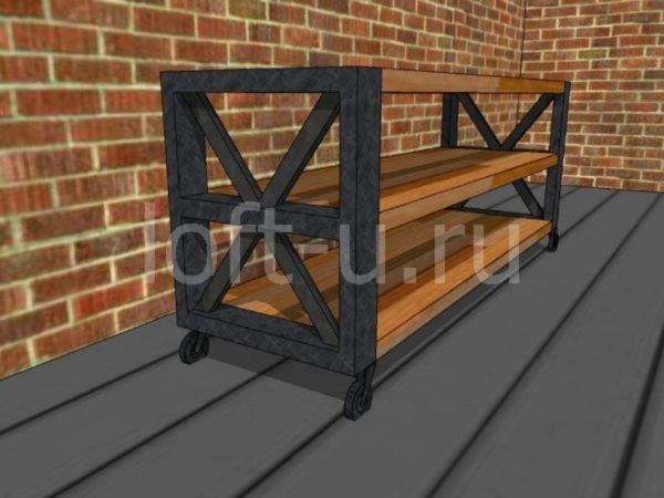 лофт журнальный стол и консоль 1