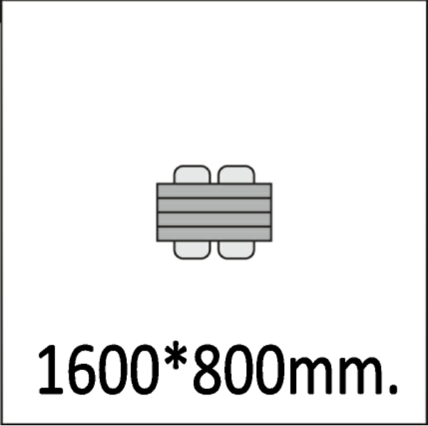 1600*800мм.