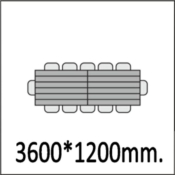 3600*1200мм.