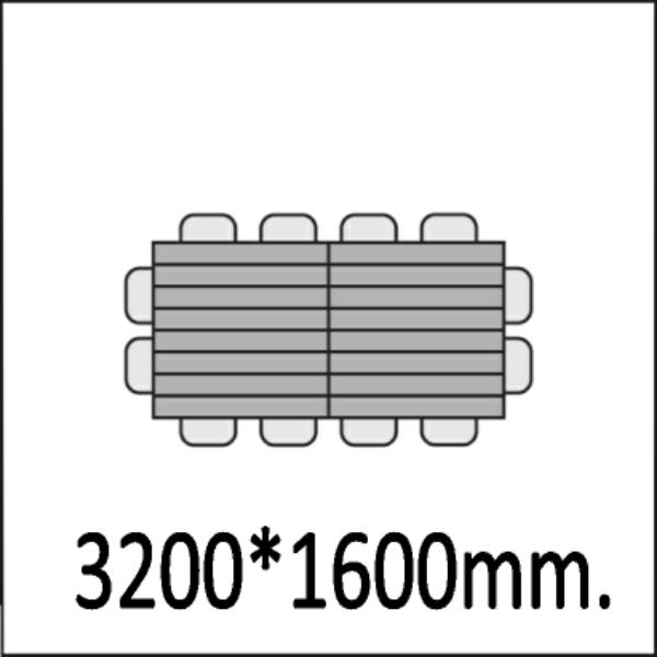 3200*1600мм.
