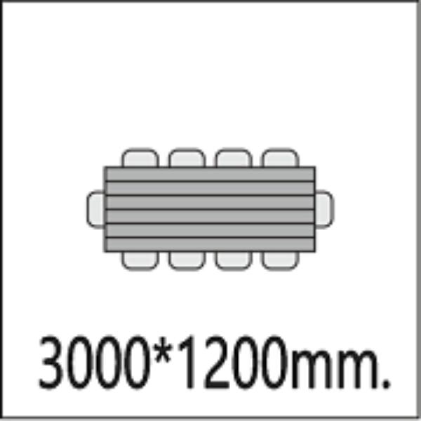 3000*1200мм.