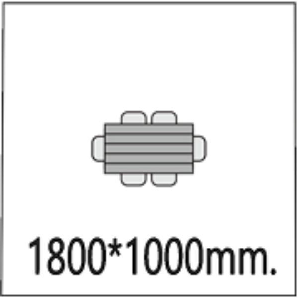 1800*1000мм.