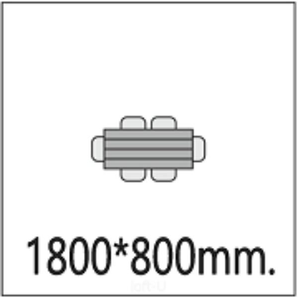 1800*800мм.