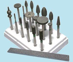 Алмазные шлифовальные головки МОНАЛИТ для слесарной обработки твердых металлов и сплавов
