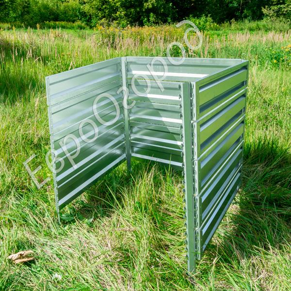 Расширитель оцинкованного компостера Премиум 100x100 см