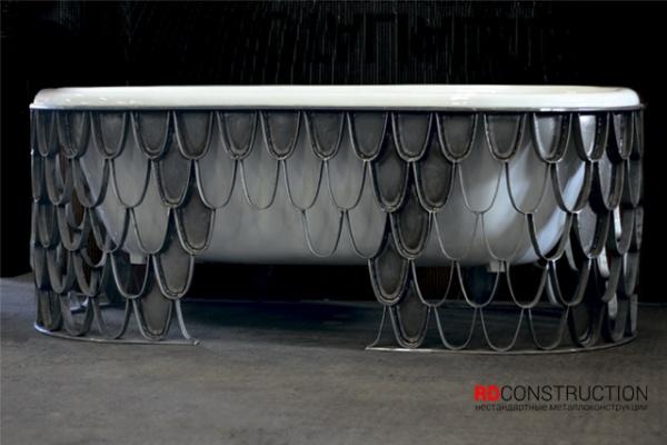 Основание для ванны из нержавеющей стали.Изготовлено вручную.