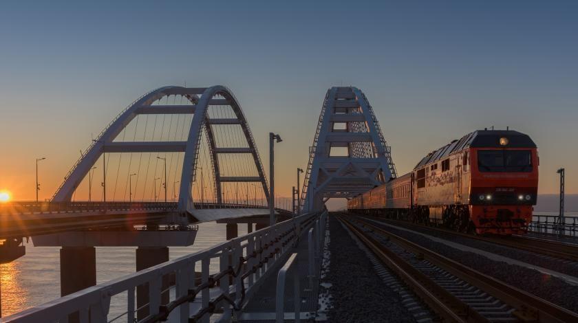 поезд на крымском мосту