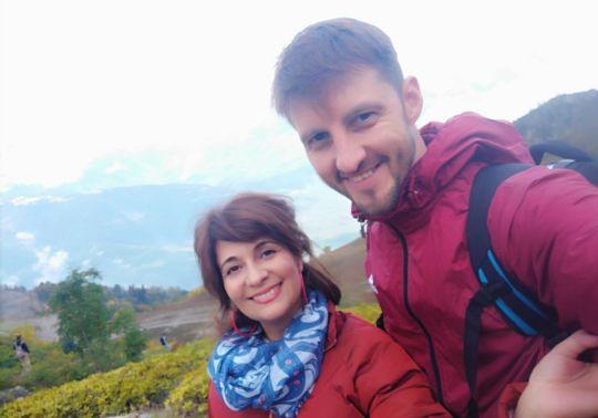 прогулка двоем в горах