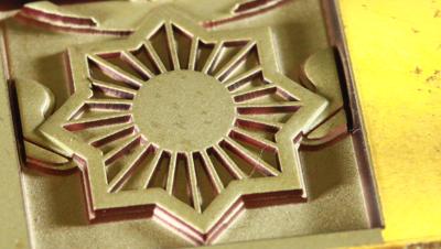 Пример обработки на лазерном оборудовании - 3D гравировка латуни