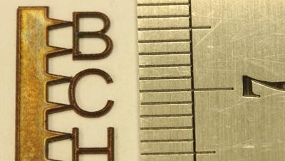 Пример обработки на лазерном оборудовании - высокоточная резка металлов