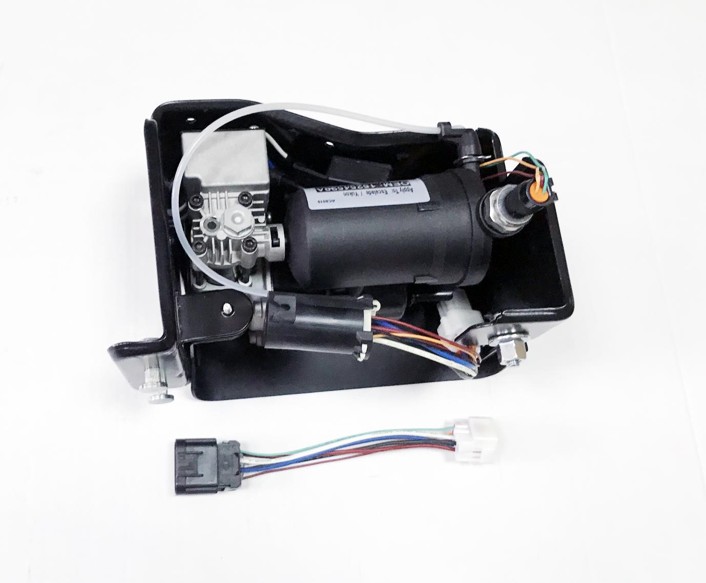картинка Новый компрессор пневмоподвески AirBagit для Cadillac Escalade и Chevrolet Tahoe (15254590, 20930288, 22941806) от магазина пневмоподвески ПневмоМаркет