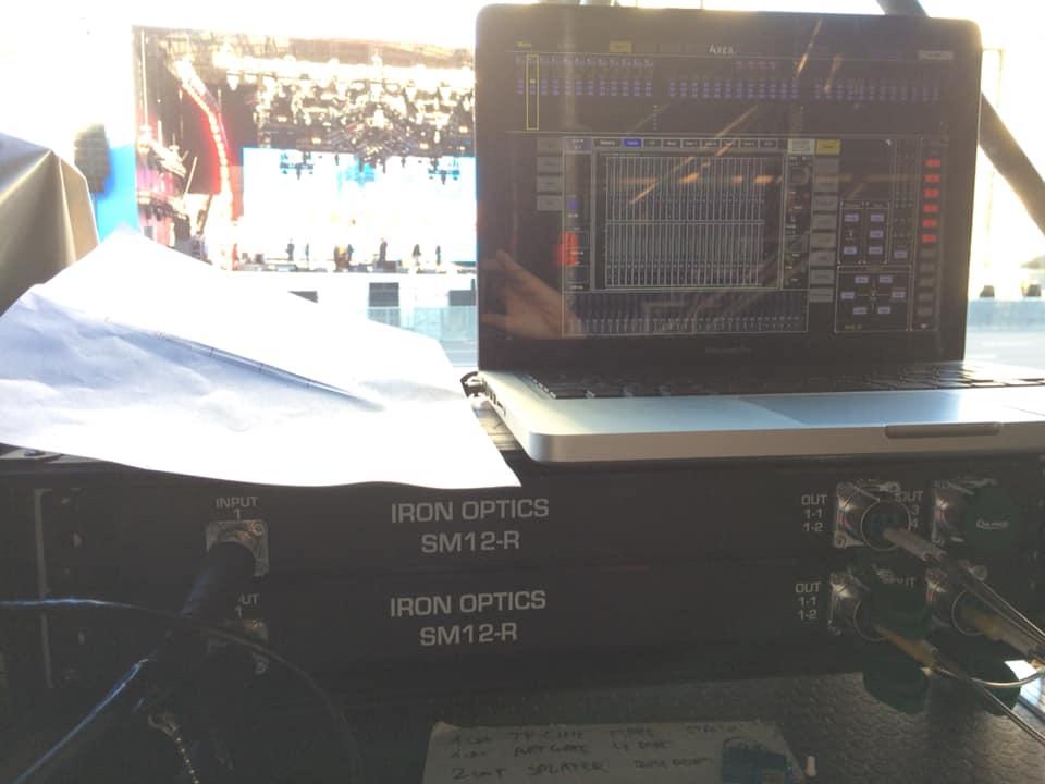 Магистральная сеть передачи аудиосигнала Dante на базе кабелей SM4 и коммутационных блоков SM12-R. Фото: Вячеслав Касьянов