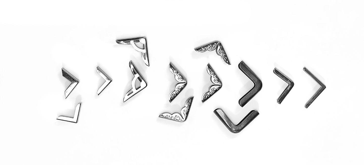 металлические уголки для папок меню