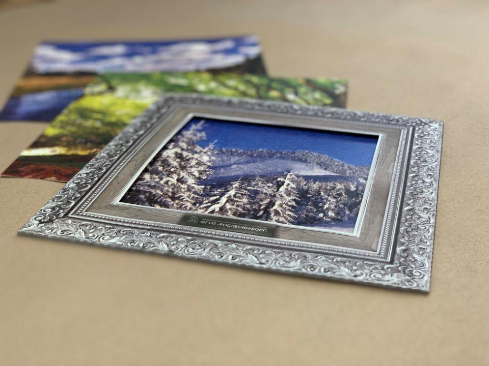 Печать наборов открыток в рамке