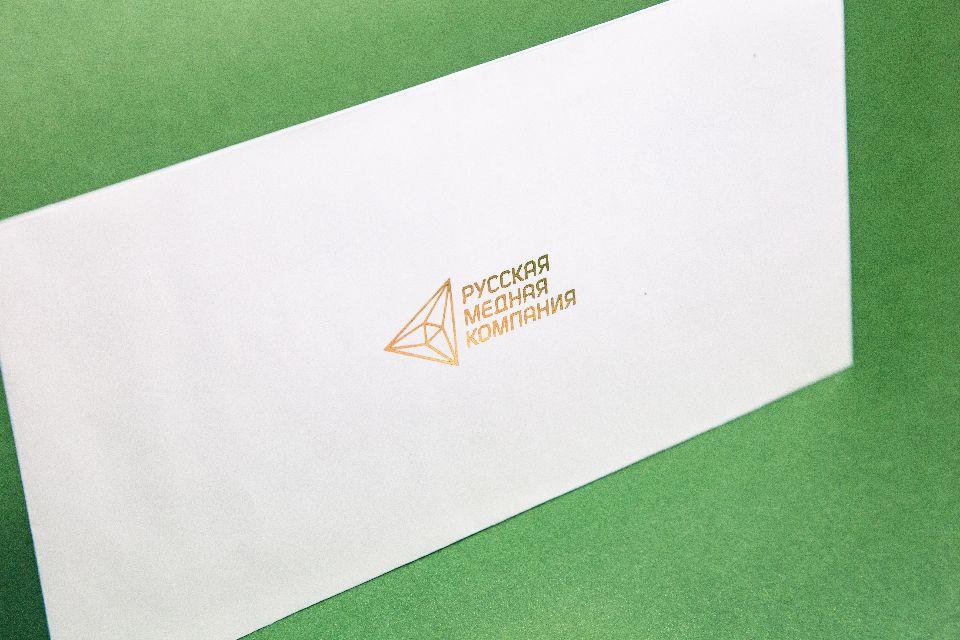 конверт с тиснением
