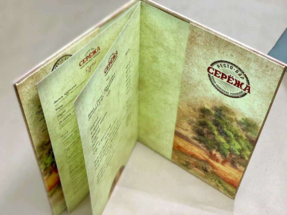 папка-обложка для меню