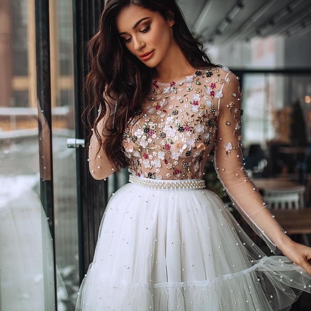 картинка Короткое платье люкс с цветами  AV109333 интернет бутик Avolet.ru