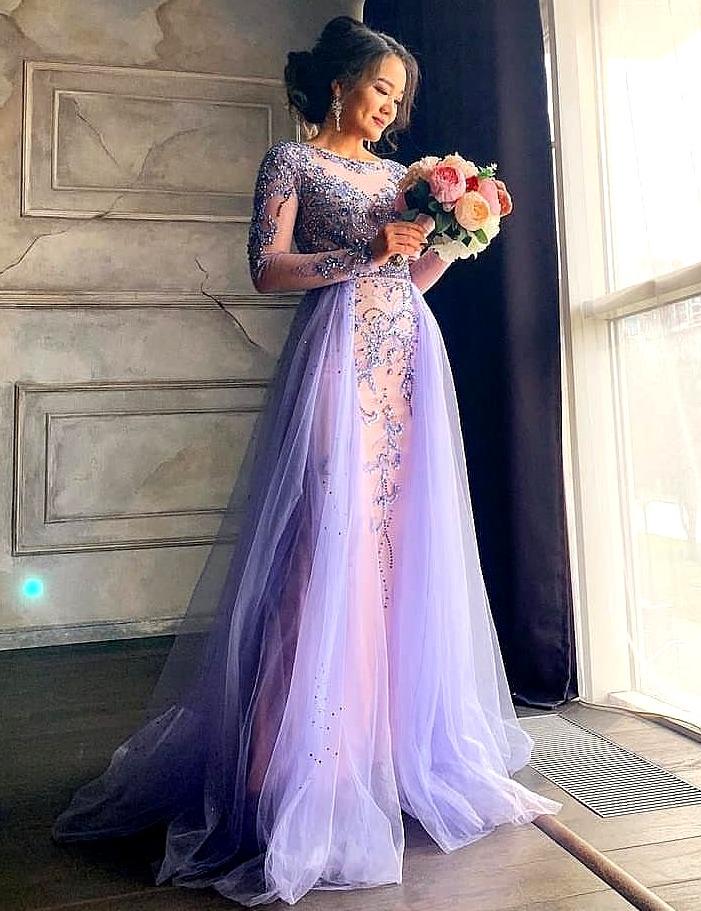 картинка Вечернее платье с бисером и стразами AX103386 интернет бутик Avolet.ru