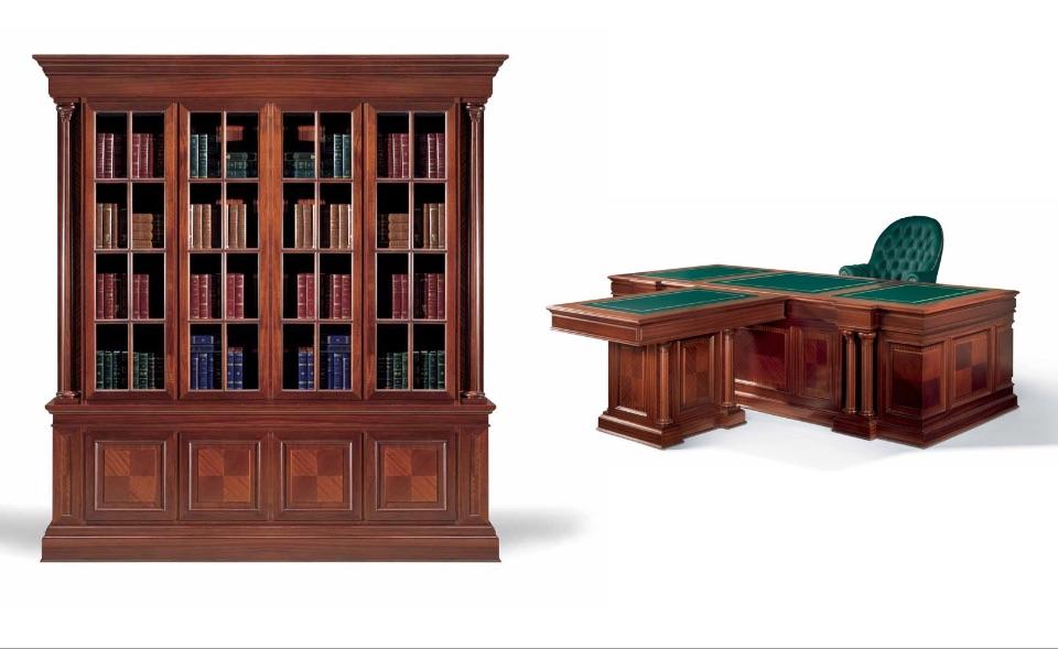 Библиотека, Брифинг стол – Кабинет премиум класса Imperial Elledue