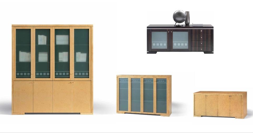 Библиотека, Тумбы – Кабинет премиум класса Hekla Elledue
