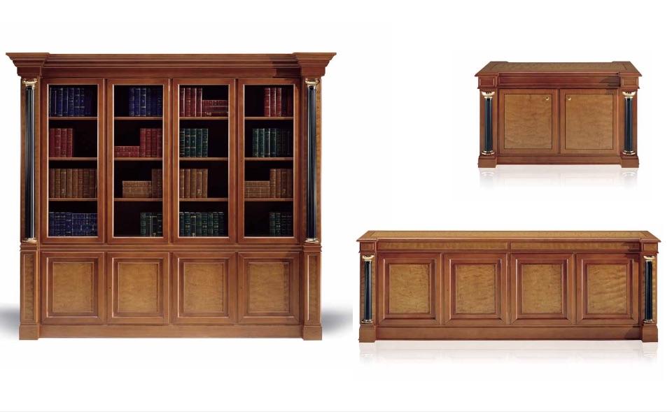 Библиотека, Тумбы – Кабинет премиум класса Kingdom Elledue