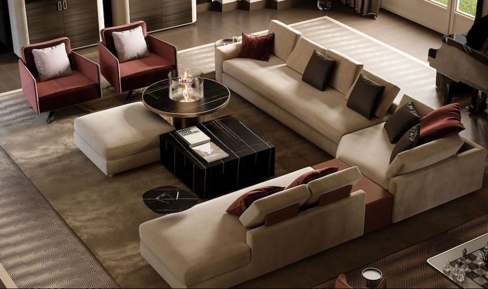 Интерьер гостиной Reflex