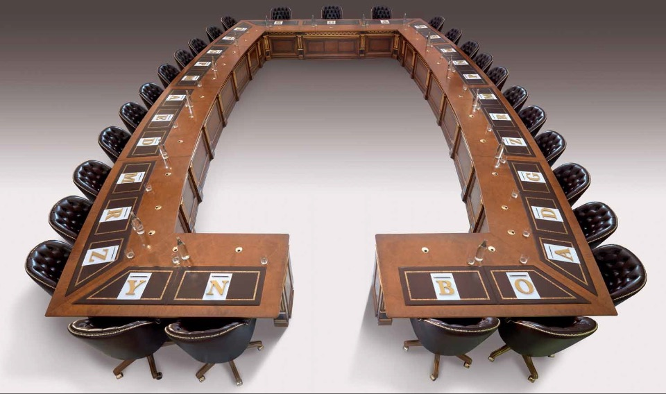 Конференц-столы для переговоров премиум класса Leonardo Elledue