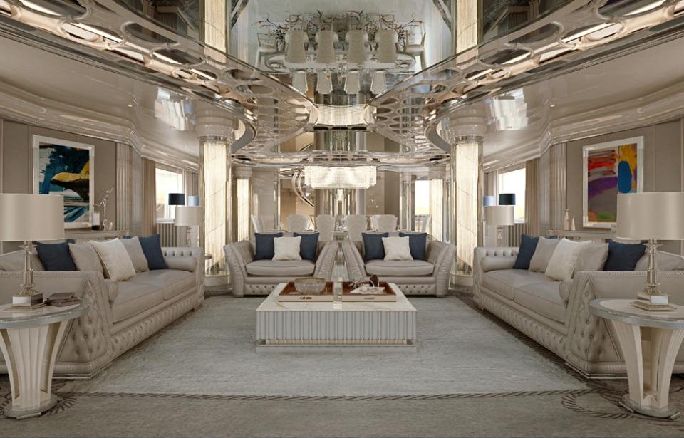 Дизайн интерьера яхт Zanaboni