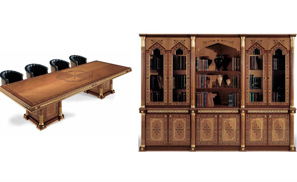 Брифинг стол, Библиотека – Кабинет премиум класса Almaty Elledue