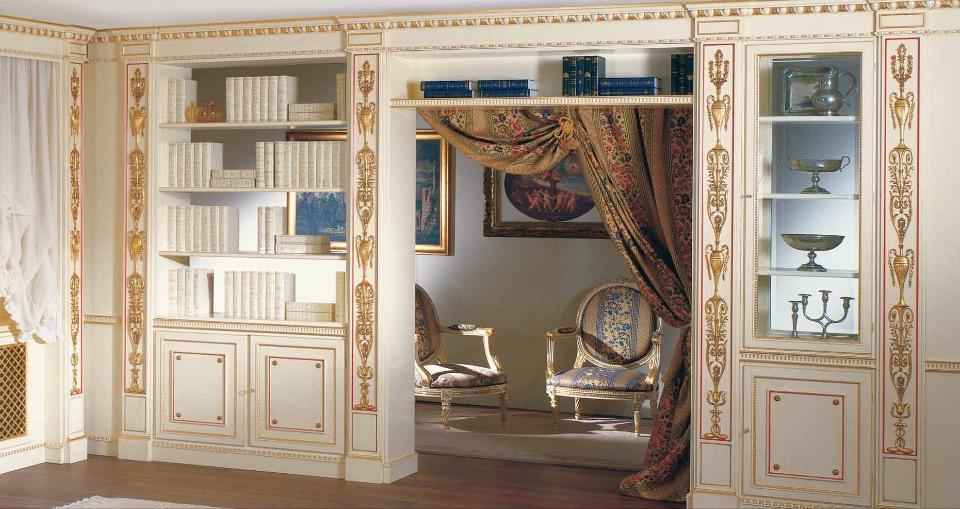 Буазери / Стеновые панели – кабинет премиум класса Louvre Elledue