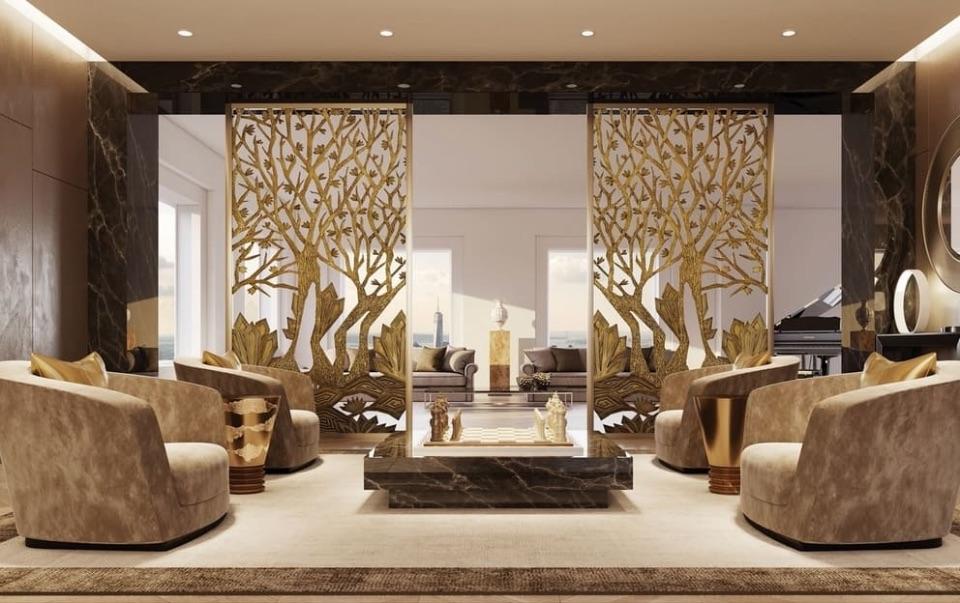 Дизайн интерьера гостиной Alchymia