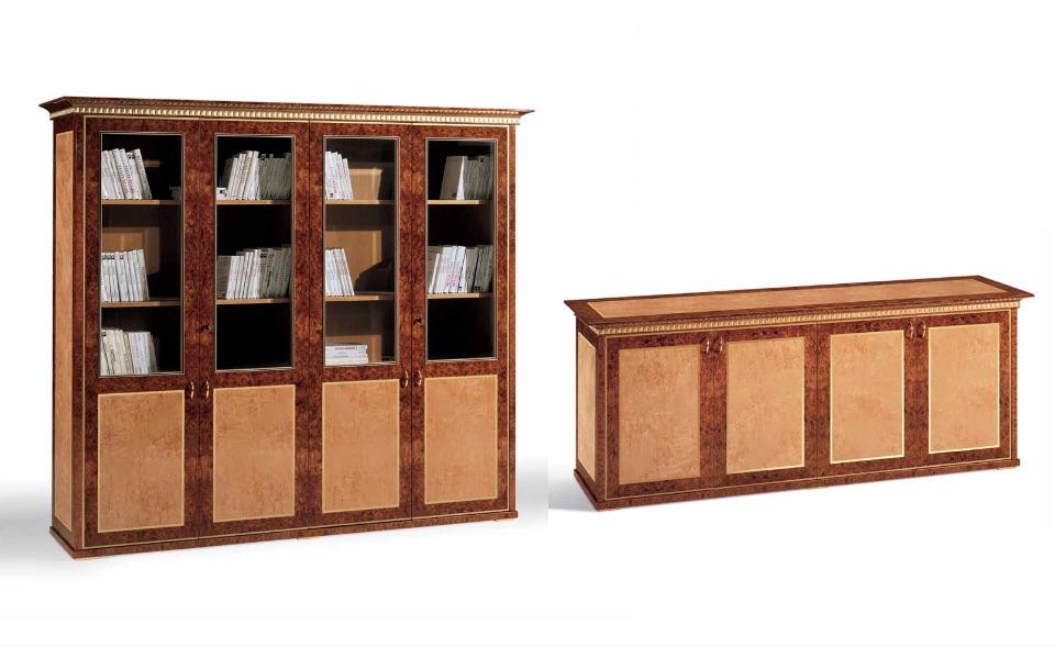 Библиотека, Тумбы – Кабинет премиум класса Myron Elledue