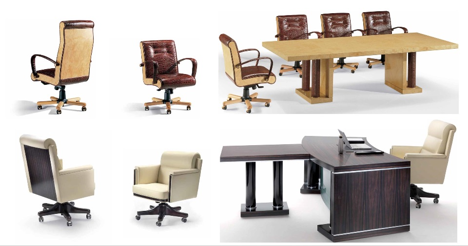Кресло руководителя, посетителей, брифинг столы – Кабинет премиум класса Hekla Elledue